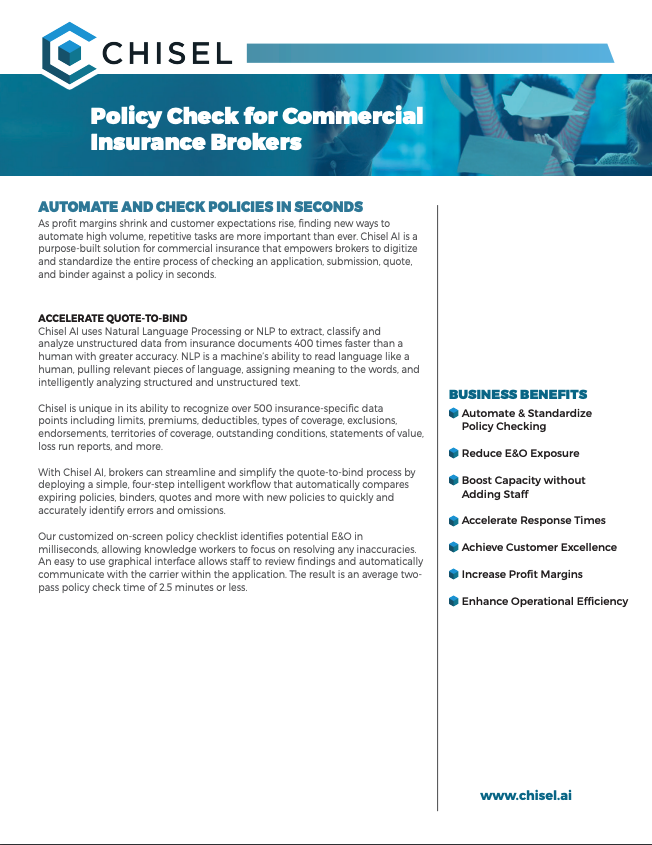 Chisel Policy Check for Commercial Insurance Brokers Solution Sheet 032019.pdf 2019-03-27 08-54-12