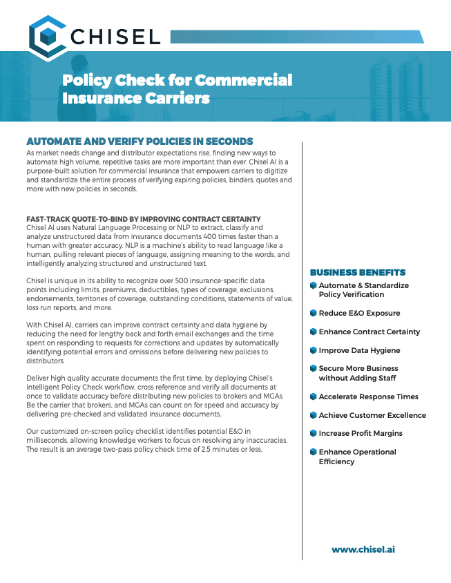 Chisel Policy Check for Commercial Insurance Carriers Solution Sheet 032019.pdf 2019-03-27 08-55-50