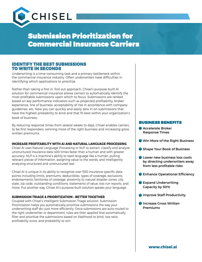 Chisel Submission Prioritization for Commercial Insurance Carriers Solution Sheet 032019.pdf 2019-03-27 09-01-00