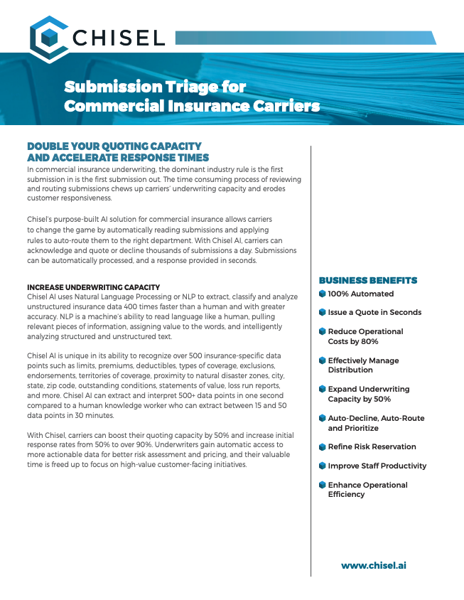 Chisel Submission Triage for Commercial Insurance Carriers Solution Sheet 032019.pdf 2019-03-27 08-59-33