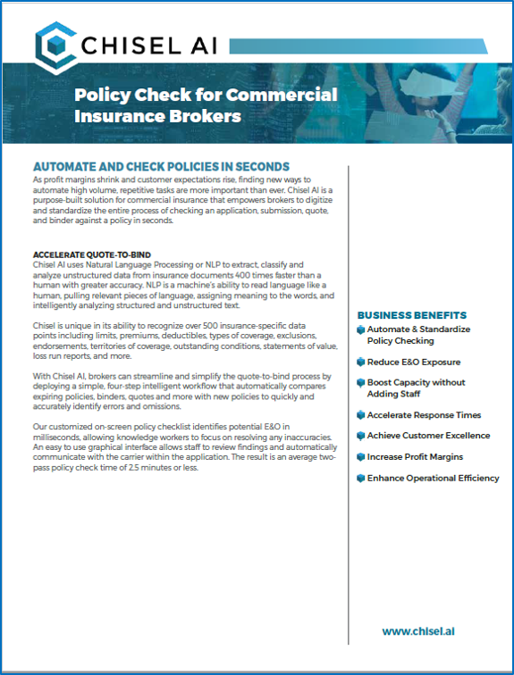 Policy Check for Commercial Brokers