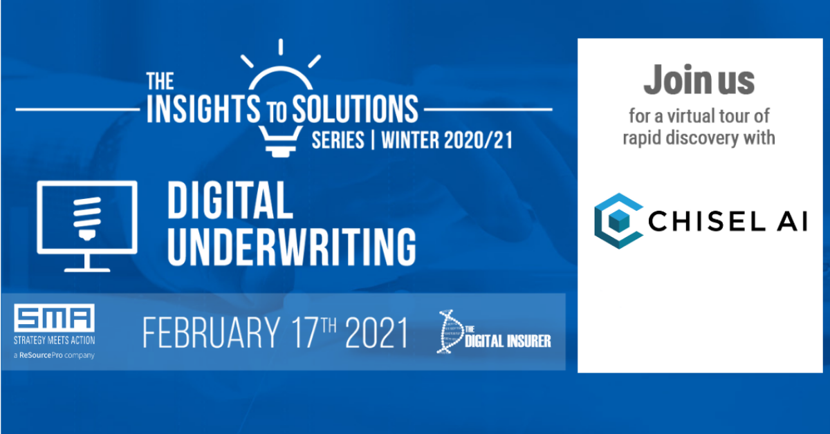 Chisel AI's Ron Glozman Joins SMA's 2021 Insights to Solutions Series – Commercial Lines Digital Underwriting